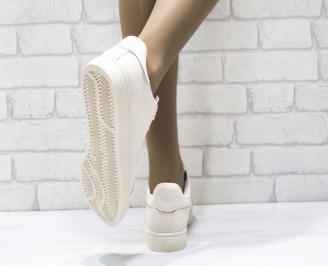Дамски спортни обувки   Bulldozer еко кожа бежови 3