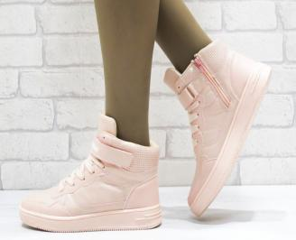 Дамски спортни обувки   Bulldozer еко кожа розови
