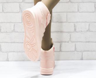Дамски спортни обувки   Bulldozer еко кожа розови 3