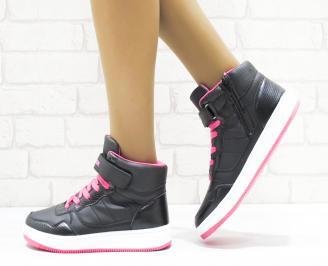 Дамски спортни обувки   Bulldozer еко кожа черни