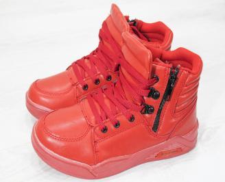 Детски спорти   обувки Bulldozer  еко кожа червени