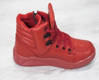 Детски спорти   обувки Bulldozer  еко кожа червени 3