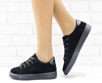 Дамски  обувки  черни текстил