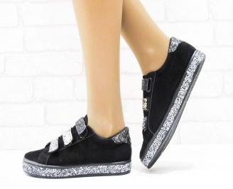 Дамски  обувки  черни еко велур