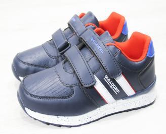 Детски обувки за момчета   Bulldozer  еко кожа сини