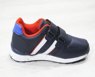 Детски обувки за момчета   Bulldozer  еко кожа сини 3