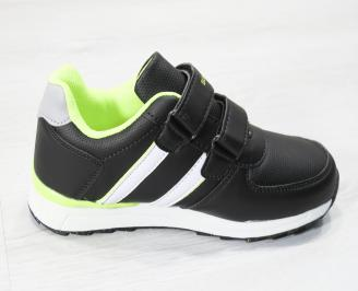 Детски маратонки за момчета  еко кожа черни 3