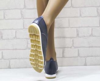 Дамски  обувки  сини естествена кожа 3