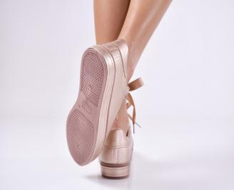 Дамски  равни обувки   еко  кожа пудра 3