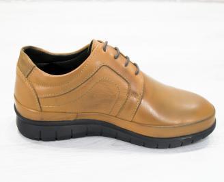 Мъжки обувки естествена кожа кафяви
