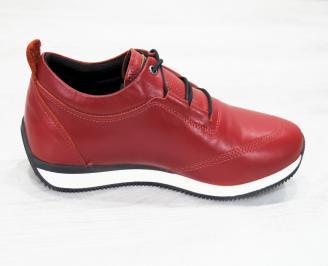 Мъжки спортни  обувки естествена кожа червени