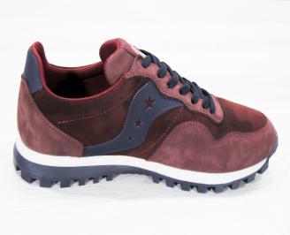 Мъжки спортни  обувки естествена кожа /набук