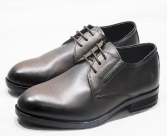Мъжки официални обувки естествена кожа кафяви