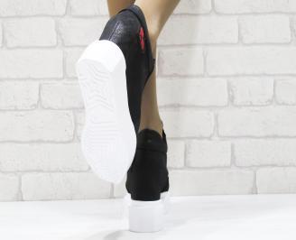 Дамски обувки естествена  кожа черни 3