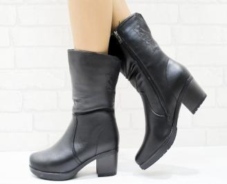 Дамски ежедневни ботуши черни еко кожа