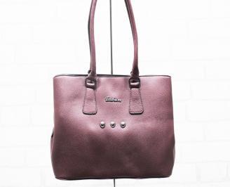 Дамска чанта еко кожа бордо