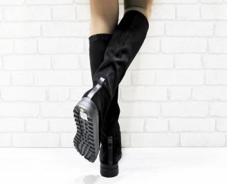 Дамски ежедневни ботуши черни 3