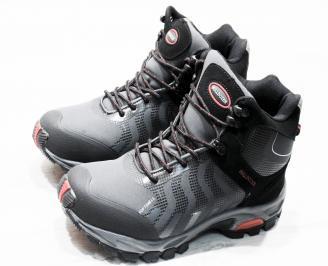 Мъжки обувки Bulldozer черни набук/текстил