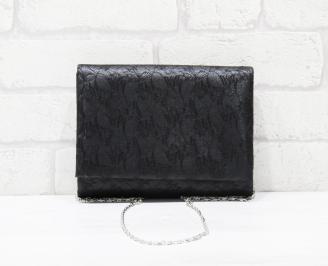 Абитуриентска чанта еко кожа/дантела черна