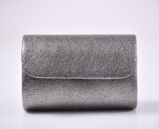Абитуриентска чанта еко кожа сребриста
