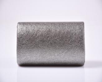 Абитуриентска чанта еко кожа сребриста 3