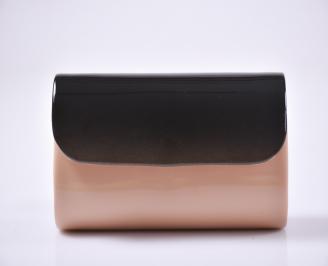 Абитуриентска чанта еко кожа /лак розова