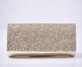 Абитуриентска чанта еко кожа/брокат златист.