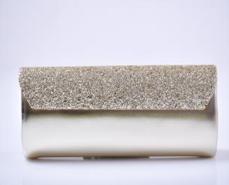 Абитуриентска чанта еко кожа/брокат златист. 3