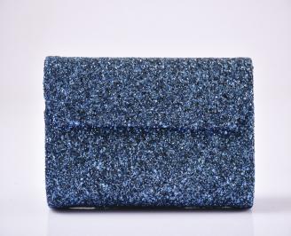 Абитуриентска чанта брокат/синя 3