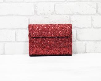 Абитуриентска чанта брокат/червена