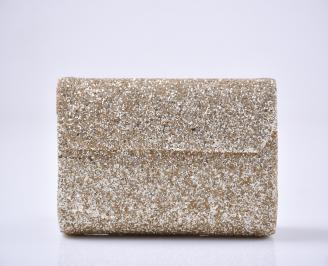 Абитуриентска чанта брокат/златиста