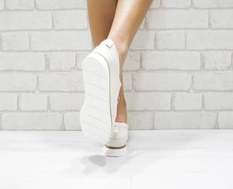 Дамски обувки Гигант равни естествена кожа бежови 3