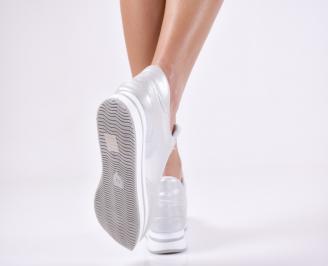 9c76df69b30 Дамски спортни обувки еко кожа сребристи Дамски спортни обувки еко кожа  сребристи 3