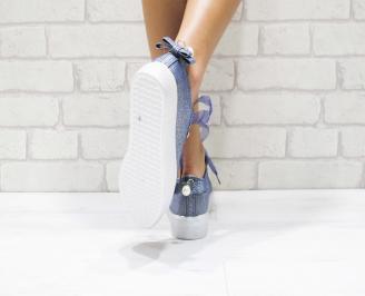 dc38ef8060c Дамски спортни обувки текстил сини Дамски спортни обувки текстил сини 3