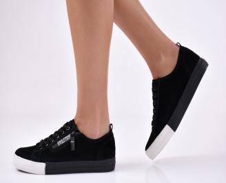 6b7f06248c7 Дамски маратонки текстил бели 500-5107. 45.00 лв. Дамски спортни обувки еко  набук черни ...