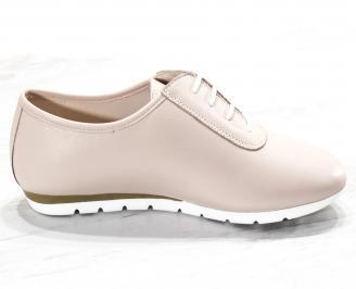 Дамски обувки Гигант равни естествена кожа пудра 3