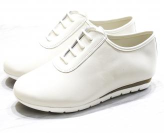 Дамски обувки Гигант равни естествена кожа бежови
