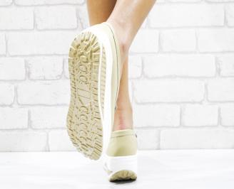 Дамски обувки естествена кожа бежови 3