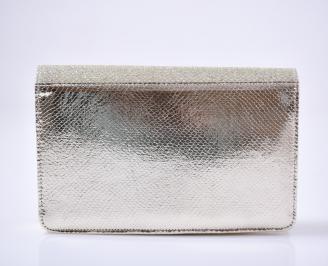 Абитуриентска чанта еко лак златиста