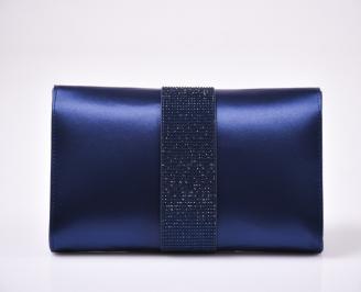 Абитуриентска чанта сатен синя 3