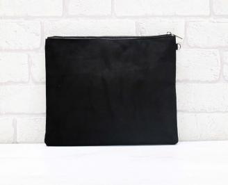 Абитуриентска чанта велур черна 3