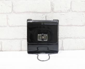 чанта еко лак черна