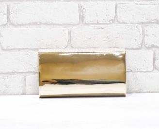 Абитуриентска чанта еко лак/брокат златиста