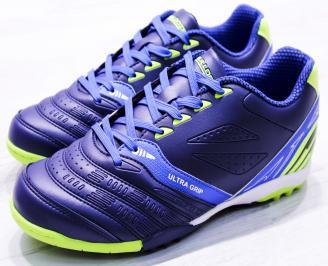 Футболни обувки  еко кожа сини