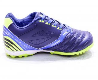Футболни обувки  еко кожа сини 3