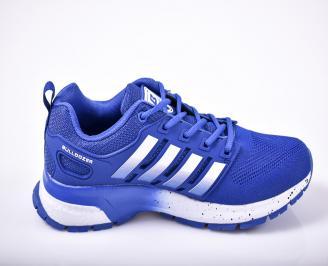 Мъжки маратонки Bull  текстил сини 3