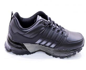 Мъжки маратонки -Гигант еко кожа черни 3