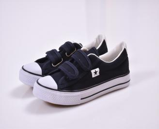 Детски обувки  текстил тъмно сини