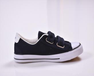 Детски обувки  текстил тъмно сини 3