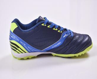 Юношески  обувки  еко кожа сини 3